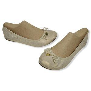 Dexflex Comfort Gold Ballet Flats 9½ W